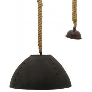Photo NLA2870 : Handmade antic iron bowl lamp