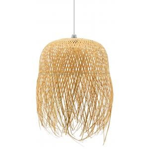 Photo NLA3010 : Natural rattan and metal ball lamp