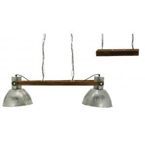 Photo NLA3090 : Recycled wood and metal ceiling lamp