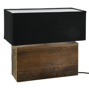 Photo NLA3140 : Rectangular recycled wood and cotton lamp