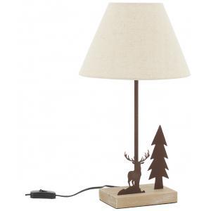 Photo NLA3170 : Lampe en métal et bois