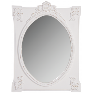 Photo NMI1710V : Miroir rectangulaire blanc charme
