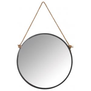 Photo NMI1780V : Miroir rond avec corde
