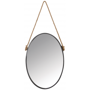 Photo NMI1790V : Miroir ovale avec corde