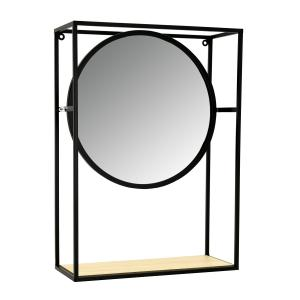 Photo NMI1960V : Metal and glass mobile mirror