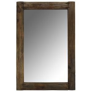 Photo NMI1970V : Rectangular recycled rustic wood mirror