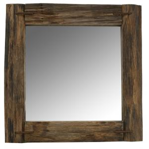 Photo NMI1980V : Recycled rustic wood mirror