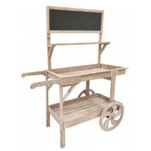 Photo NPR1730 : Chariot de présentation en bois antique