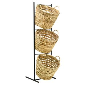 Photo NPR1740 : Metal and hyacinth baskets display stand