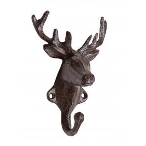 Photo NPT1490 : Cast iron deer head peg