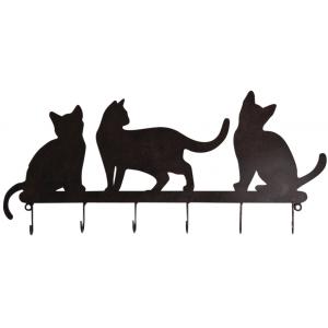 Photo NPT1510 : Black lacquered metal hooks Cat
