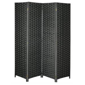 Photo NPV1620 : Paravent 4 panneaux en nylon noir