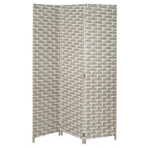 Photo NPV1630 : Paravent 3 panneaux en nylon blanc