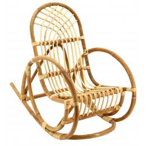 Photo NRE1080 : Rocking chair en rotin naturel