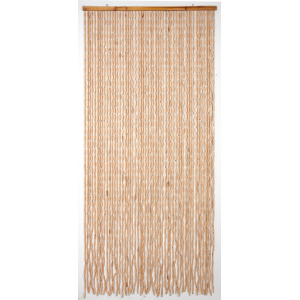 Photo NRI1710 : Wooden door curtain
