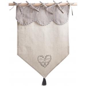Photo NRI1860 : Rideau motif coeur gris