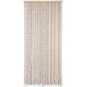 Photo NRI1890 : Wooden door curtain