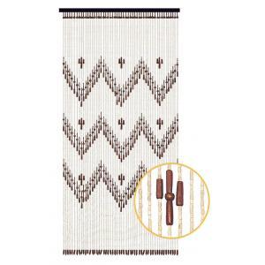 Photo NRI1960 : Rideau de porte en bois à motif ethnique