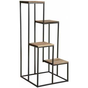 Photo NSE1690 : Metal and wooden plant stand