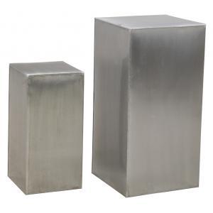 Photo NSE198S : Sellettes carrées en zinc titanium