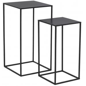 Photo NSE199S : Black metal plant stands