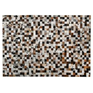 Photo NTA2130 : Tapis mosaïque en peau de vache