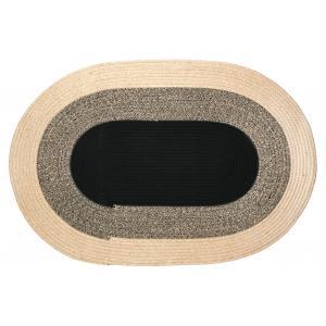 Photo NTA2140 : Tapis oval en jute naturelle et teintée