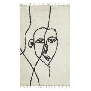 Photo NTA2311 : Cotton carpet with face design