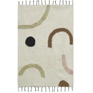 Photo NTA2340 : Cotton carpet with abstract design