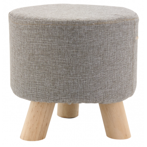 Photo NTB1770C : Cotton and wood stool