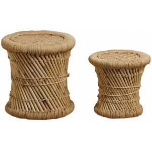 Photo NTB184S : Natural reed stool