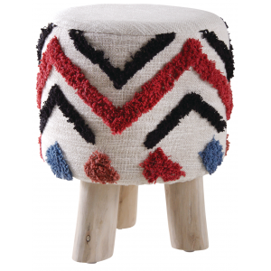 Photo NTB1880 : Cotton stool with wooden legs