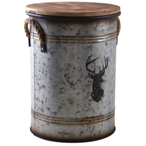 Photo NTB1920 : Metal stool and log basket