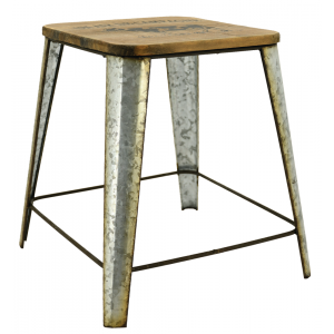Photo NTB2090 : Metal and wood stool Un air de campagne