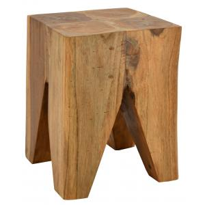 Photo NTB2120 : Square teak stool