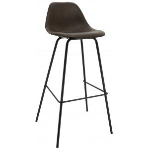 Photo NTB2151 : Brown imitation leather stools