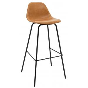 Photo NTB2153 : Camel imitation leather and metal stools