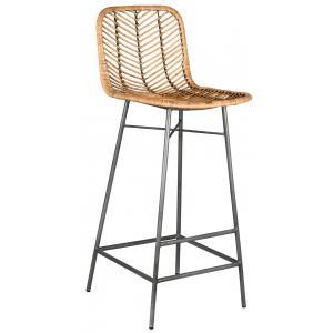Photo NTB2260 : Rattan and metal high stool