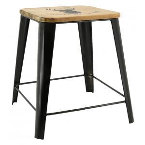 Photo NTB2340 : Metal and wooden stool L'appel de la forêt