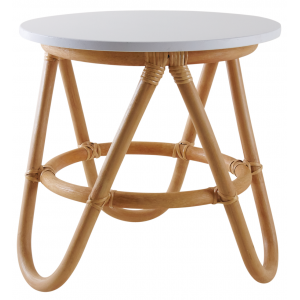 Photo NTE1170 : Children's rattan et wood table