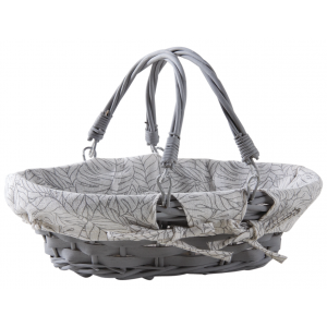 Photo PAM4740C : Lacquered willow and lacquered wood basket