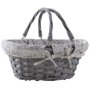 Photo PAM4750C : Lacquered willow and lacquered wood basket