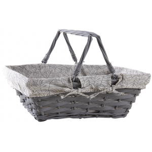 Photo PAM4770C : Lacquered willow and lacquered wood basket