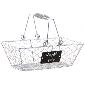 Photo PAM4810 : Silver finish wire basket Mon petit panier