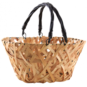 Photo PAM4830 : Wood and black lacquered willow basket