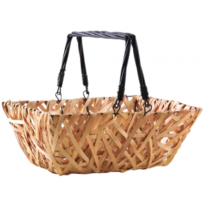 Photo PAM4840 : Wood and black lacquered willow basket