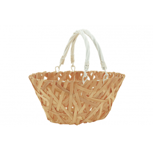 Photo PAM4860 : Wooden and lacquered willow basket