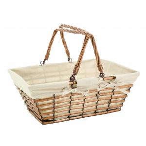 Photo PAM4950J : Openwork willow and jute basket