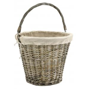 Photo PAM4990J : Grey willow and jute with movable handle