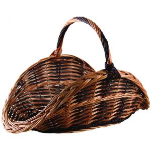 Photo PBU1090 : Willow log basket with handle